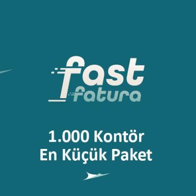 fastfatura 1.000 Kontör En Küçük Paket