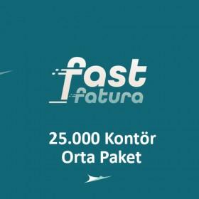 fastfatura 25.000 Kontör Orta Paket